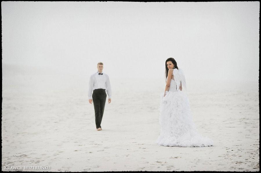 Magda i Rafał | sesja we mgle | plener w stadninie 27