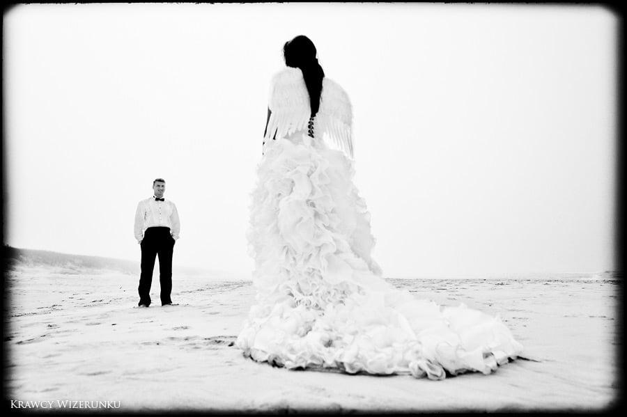 Magda i Rafał | sesja we mgle | plener w stadninie 28