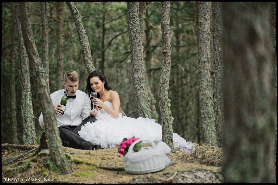 Magda i Rafał | sesja we mgle | plener w stadninie 33