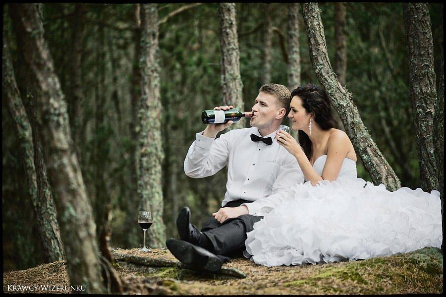 Magda i Rafał | sesja we mgle | plener w stadninie 34