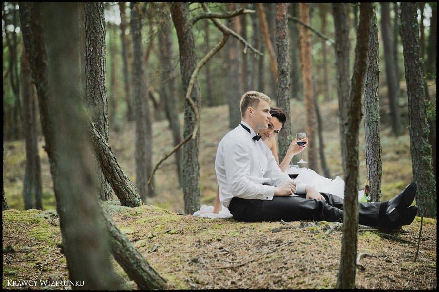 Magda i Rafał | sesja we mgle | plener w stadninie 35