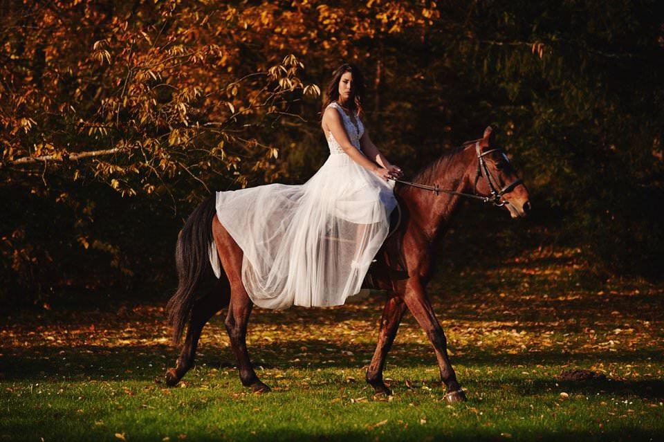 Sesja ślubna z końmi w Otominie 77