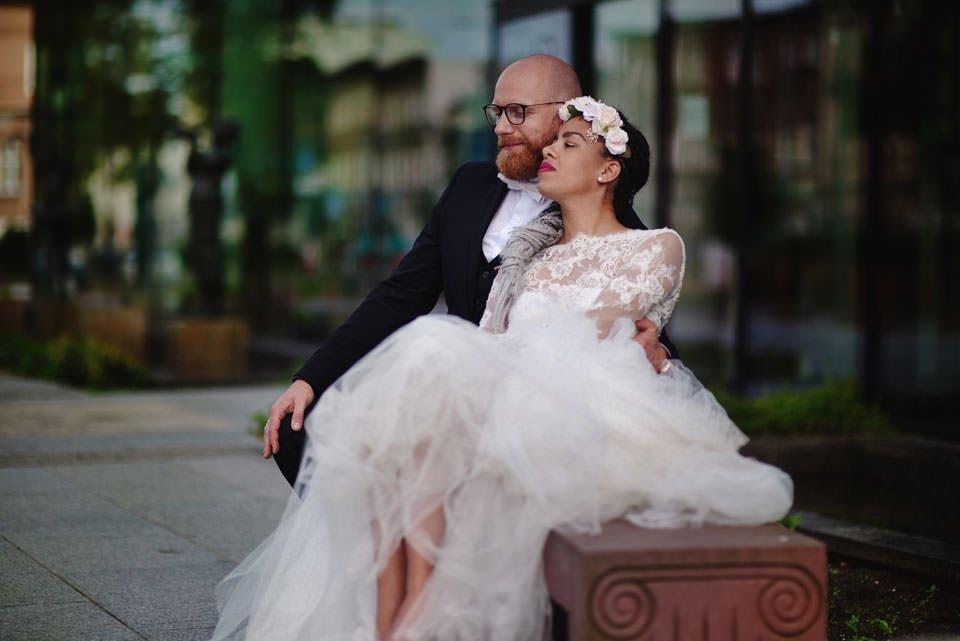 Paulina i Marcin | Dwa burzowe dni | Sesja w parku i na nadmorskim brzegu. 78