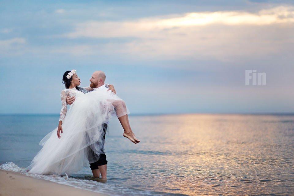 Paulina i Marcin | Dwa burzowe dni | Sesja w parku i na nadmorskim brzegu. 83