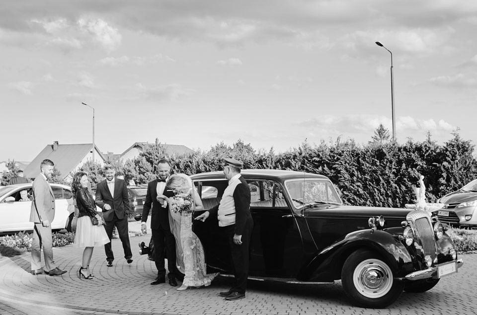 klasyczne auto do ślubu, daimler db 18