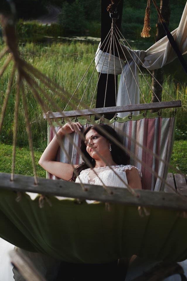 zdjęcia ślubne na hamakach