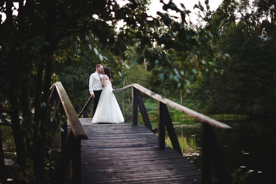 sesja ślubna na moście