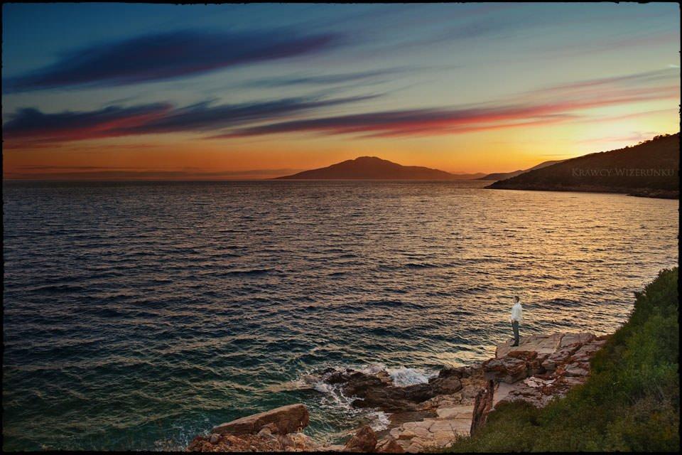sesja ślubna nad Morzem Egejskim