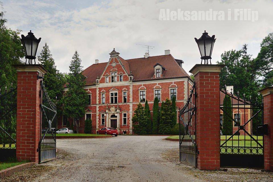 Zdjęcia ślubne w pałacu w Leźnie 1