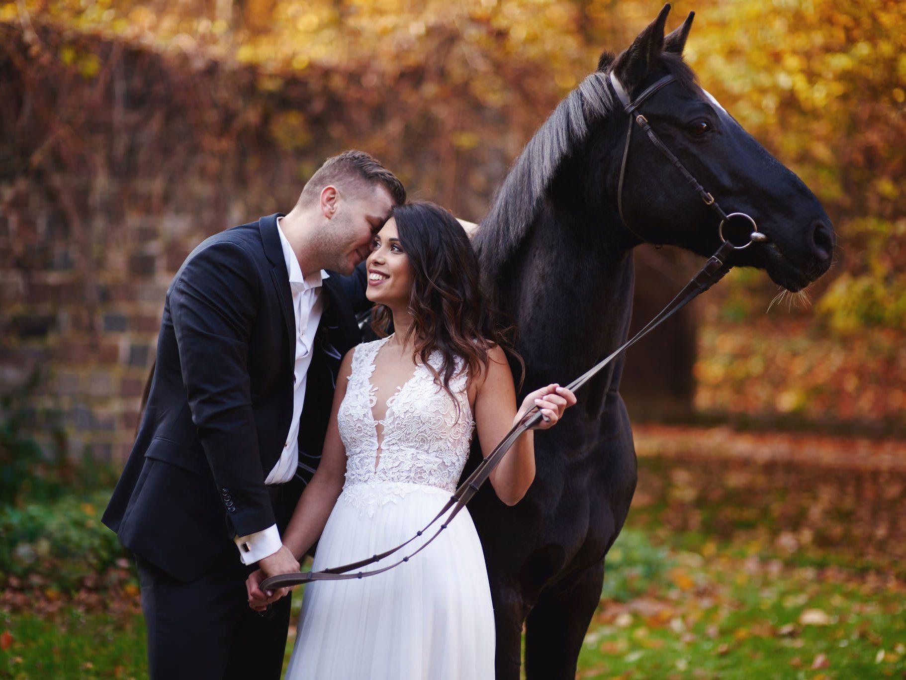 Sesja ślubna z końmi w Otominie 3